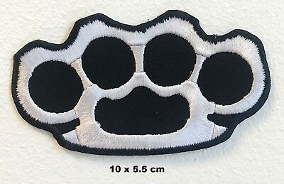 Patch patches embroidered iron on backpack biker brass knuckle ring  motorcycle