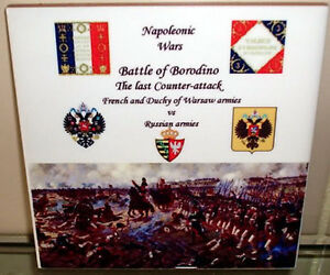 Details about Napoleonic Wars Napoleon ~Battle of BORODINO~ French Vs  Russians CERAMIC TILE