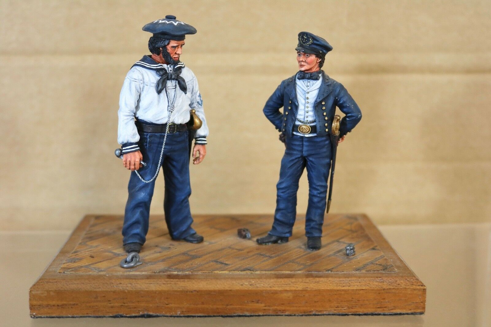 STADDEN SERIES 77 90mm AMERICAN CIVIL WAR UNION NAVY SAILORS MUSEUM QUALITY
