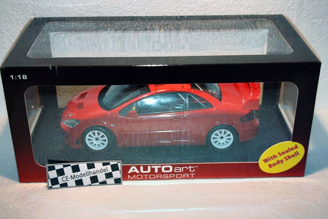PEUGEOT 307 WRC PLAIN BODY VERSION  2005  AUTOART  1 18