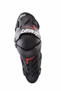 LEATT Dual Axis MX Motocross ATV Knee and Shin Guard Black/Red Size S/M