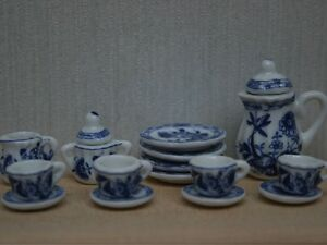 Delft-Tea-set-Doll-House-Miniatures-Tableware-Kitchen-amp-Dining-1-12-Scale