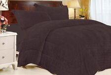 3 Piece Tiger Fur Comforter Set QUEEN Chocolate Brown