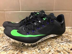 (526626-035) Nike Zoom Superfly R4 Black/Green Men's Sprint Track Cleats