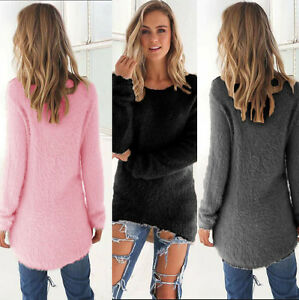 Womens-Blouse-Warm-Long-Sleeve-Sweater-Ladies-Sweatshirt-Jumper-Pullover-Tops