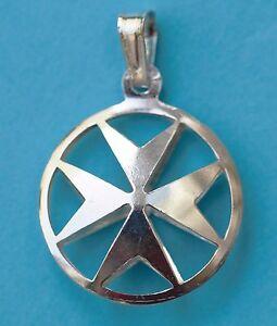John 925 Sterling Silver Maltese Cross Pendant Order Of St Large size