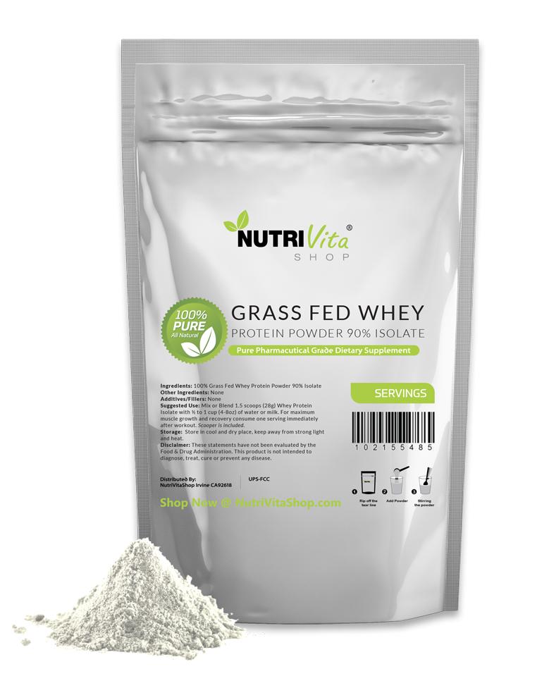 0.9X2.3kg (4.5kg kg) 100% Pur Molkenprotein Isolat 90% Gras Gefüttert Usda