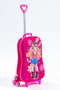 Kid's Trolley Roller Bag Girl 3D Rolling Suitcase Luggage ...