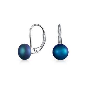 Black-Freshwater-Cultured-Pearl-Leverback-Ball-Drop-Earrings-Sterling-Silver