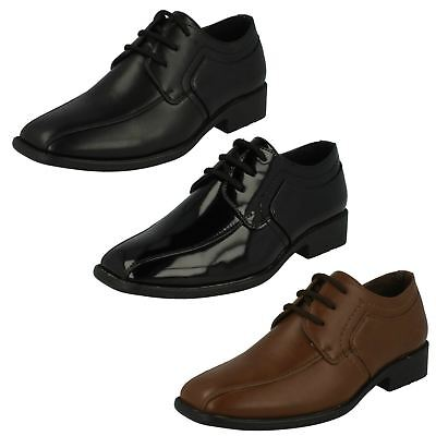 BOYS JCDEES LACE UP SQUARE TOE SMART FORMAL SCHOOL SHOES N1109