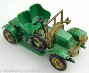 Matchbox-1911-Renault-no-2-Models-of-Yesteryear-Lesney-Missing-Seat-Green