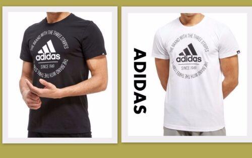 Mens new 2018 Adidas 3 Stripes Linear Logo T Shirt Crew Neck Size  S L XL XXL