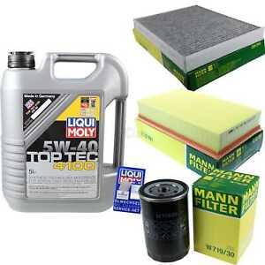 Inspection-Kit-Filter-LIQUI-MOLY-Oil-5L-5W-40-For-VW-Multivan-7HM