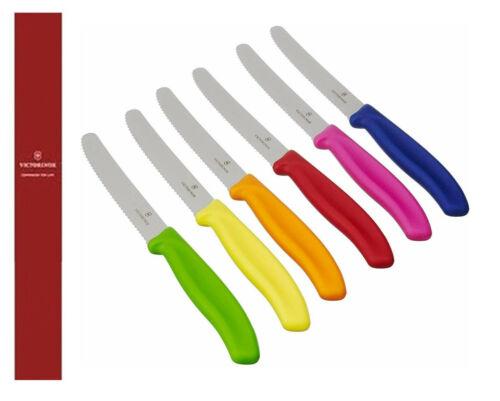 confezione 6 coltelli tavola  color filo dentato 6.7333 Victorinox swiss made