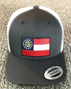 State of FLORIDA Flag Hat SnapBack Trucker Mesh Cap Handcrafted in the USA!