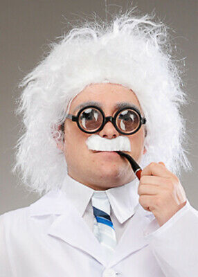 Adults Mad Scientist Einstein Costume Accessory Wig Mens Ladies Fancy Dress