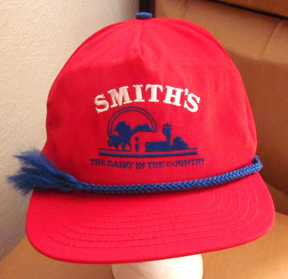 SMITH's DAIRY baseball hat Country cap Orrville OHIO 1980s farm logo broken cord 1980s OHIO b21e54