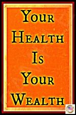 HEALTH IS YOUR WEALTH METAL SIGN 8X12 INSPIRATIONAL MOTIVATIONAL GET WELL SOON