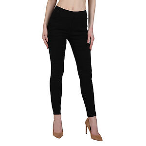 Vipakshi Women's Black Lycra Cotton Stylist Jeggings (JE-12 J)