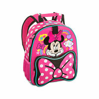 Disney Store Authentic Minnie Mouse Junior Sized Girls Backpack School Bag NWT