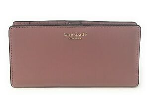 Kate-Spade-Cameron-Large-Slim-Bifold-Dusty-Peony-Leather-Wallet-Credit-Card-119