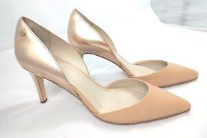 10 Size amp; Metallic Heels High Stiletto Beige Calvin Rose Wedding Klein Nude Gold qwaP47