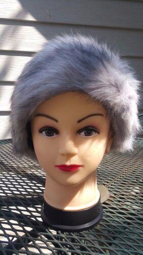 Faux Fur Hair band Hat Winter Fall Fashion Warm Wide Accessory ponytail elegant