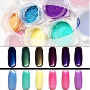 Specchio polvere unghie effetto cromato mirror powder pennello nail art set ebay - Unghie polvere specchio ...