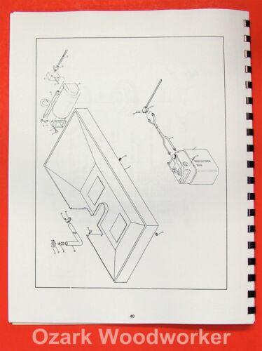 POWERMATIC Millrite Vertical Milling Machine Maintenance /& Parts Manual 0878