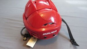 Lightly-Used-Bauer-5100-Devils-Retro-Red-Pro-Stock-Hockey-Helmet-Size-Medium