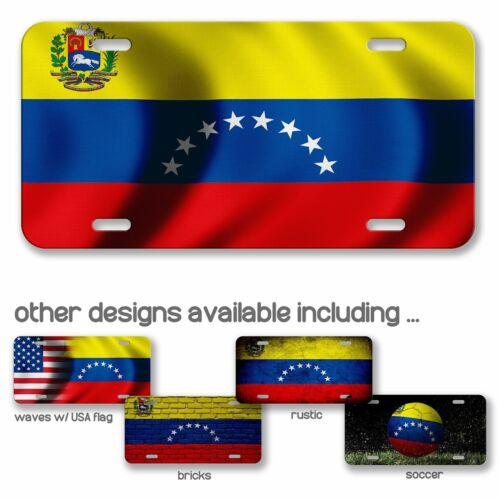 - Many Options Venezuelan Flag of Venezuela Aluminum License Plate