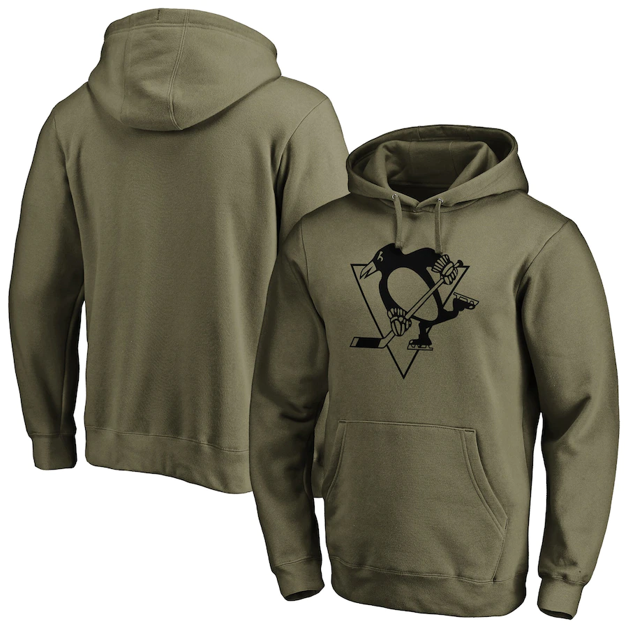 Pittsburgh Penguins NHL Mens Iconic Preferred Logo Graphic Hoodie - New