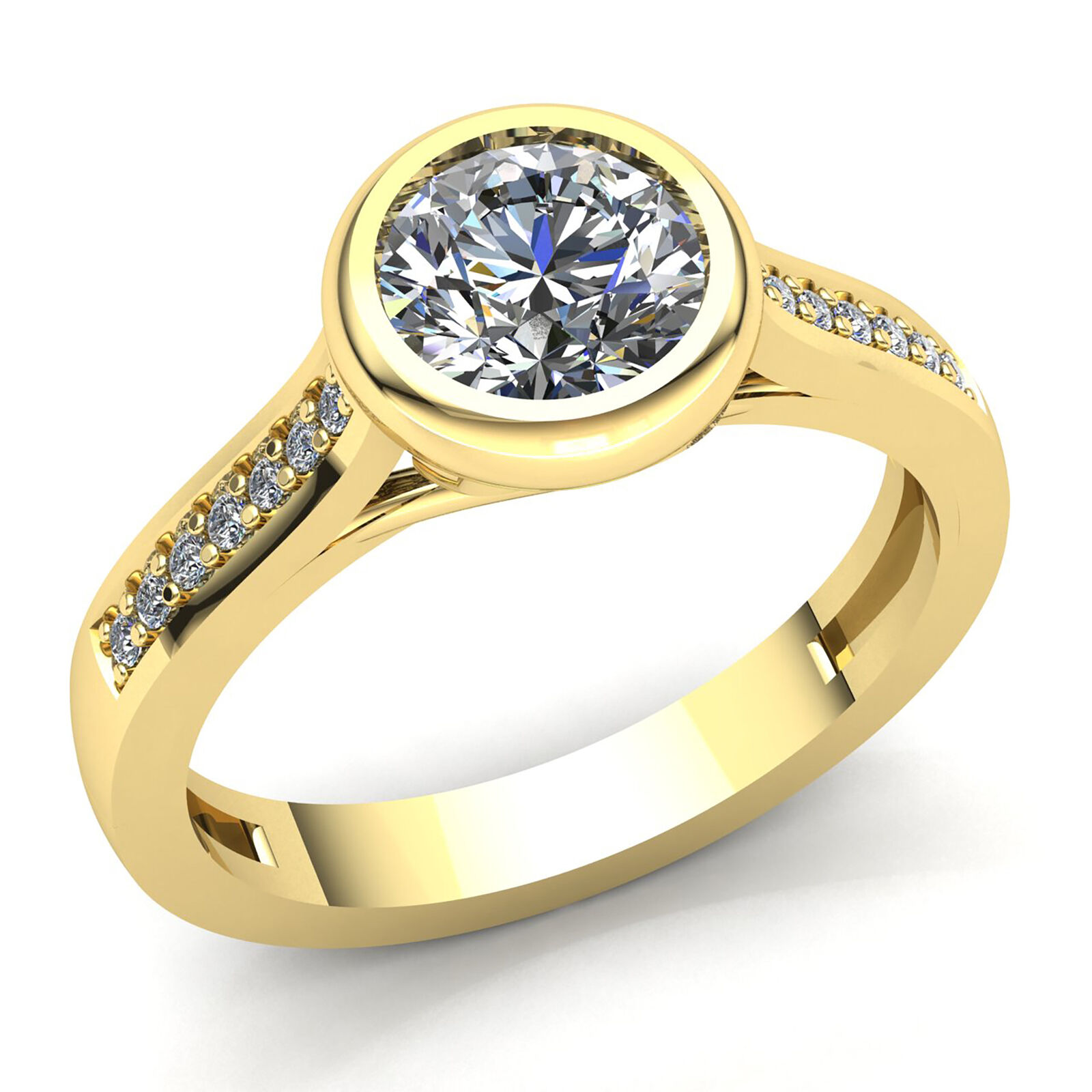Natural 0.33carat Round Diamond Ladies Bridal Solitaire Engagement Ring 10K gold