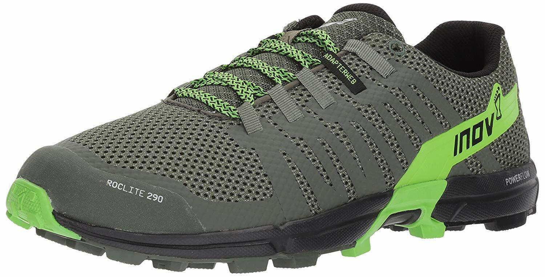 Inov - 8 Roclite 290 verde Negro Hombre Trail Running Zapatos