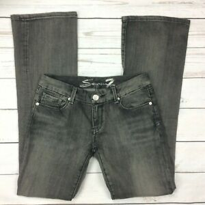 Seven7-Jeans-Size-29-Womens-Bootcut-Gray-Denim-Stretch-Melissa-McCarthy