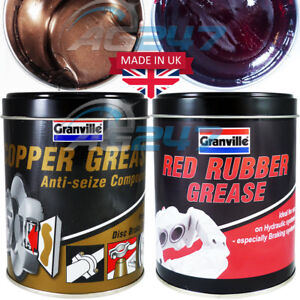 Details about Granville Anti Seize Copper Grease + Hydraulic Braking Red  Rubber Grease  500g