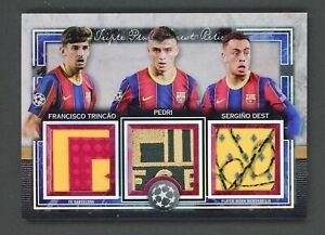 20-21 Topps Museum Trincao Pedri Dest Triple Rookie Crest Patch 1/5 FC Barcelona