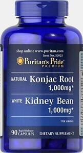 Puritan-039-s-Pride-Konjac-Root-and-White-Kidney-Bean-90-Capsules-free-shipping