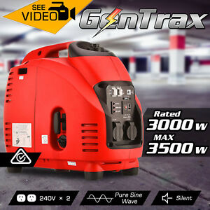 GENTRAX Portable Inverter Generator 3.5KW Max 3.0KW Pure Sine Petrol