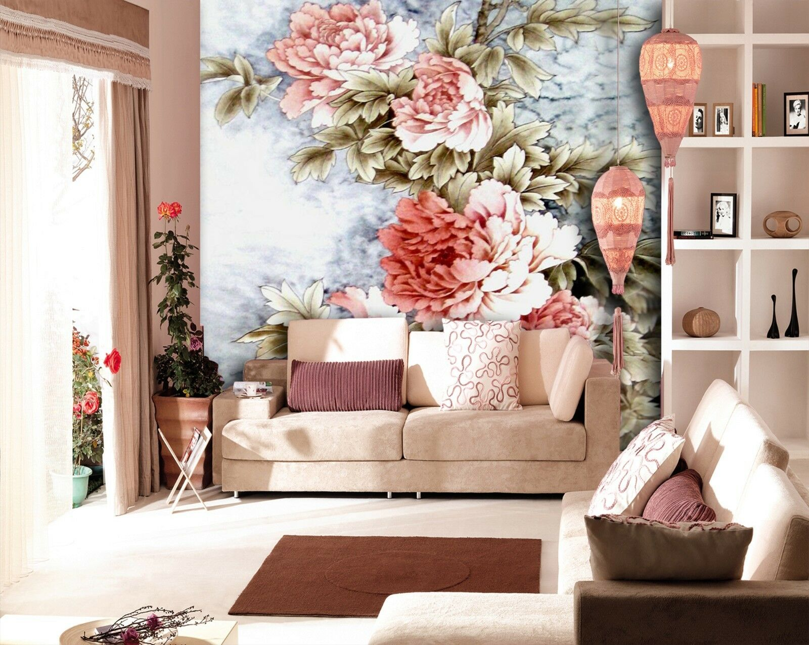 3D Elegant flowers 636 Wall Paper Wall Print Decal Wall Indoor Murals Wall US