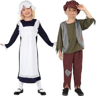 Rigoroso Childrens Povero Vittoriano Costume & Cappello Ragazze O Ragazzi Nuove Da Smiffys-mostra Il Titolo Originale