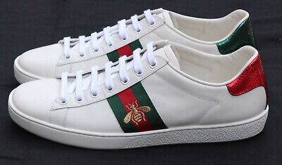Auth GUCCI Ace Golden Bee Embroidered