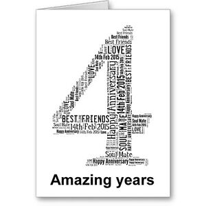 Personalised-Printed-Typographic-Fourth-4th-Anniversary-Card-Gift-Male-Female