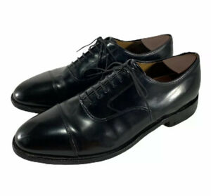Johnston & Murphy Mens Dress Shoes Melton Black Cap Toe 22-02981 Size 9.5 D/B