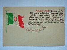 AVANTI ITALIA Trieste 1921 vecchia cartolina irredentismo