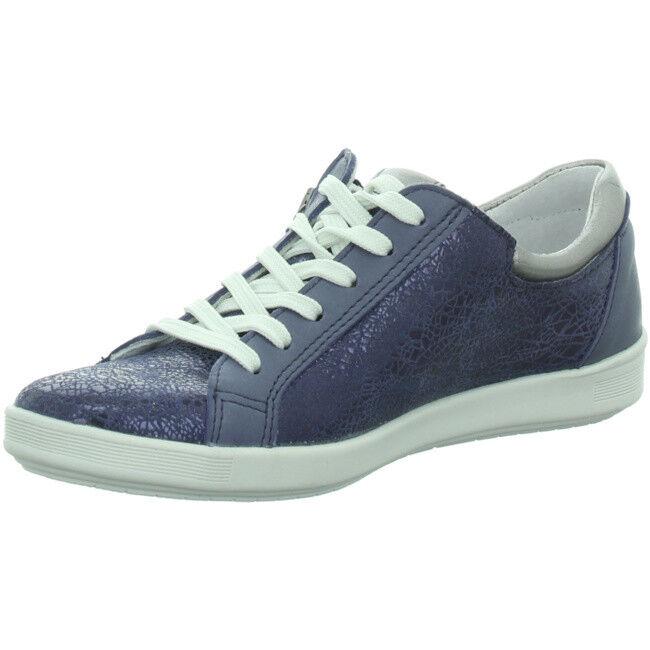 Longo Chaussures Femmes Lacets Lace Chaussure paniers 1008577 Cuir Bleu