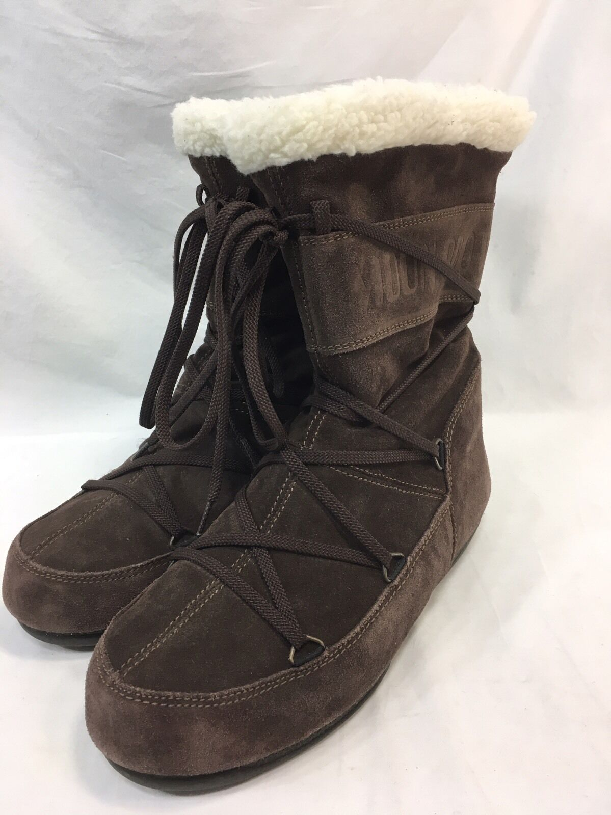 Tecnica Moon Stiefel Fashion Winter Braun Suede Laces Damenschuhe Größe 6.5 Pull-On Laces Suede EUC e845ee