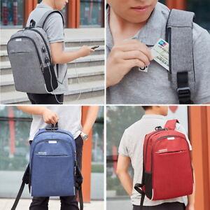 Women-Men-USB-Anti-Theft-Backpack-Travel-School-Business-Laptop-Rucksack-Bag-SH