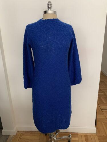 St John Knits Vintage Dress Cobalt Blue Santana Kn