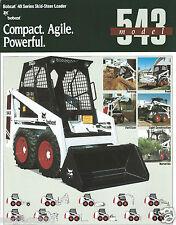 Equipment Brochure - Melroe - Bobcat - 543 - Skid-Steer Loader - c1991 (E2949)
